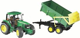 Bruder John Deere 6920 Traktor mit Wannenkipper (02058)