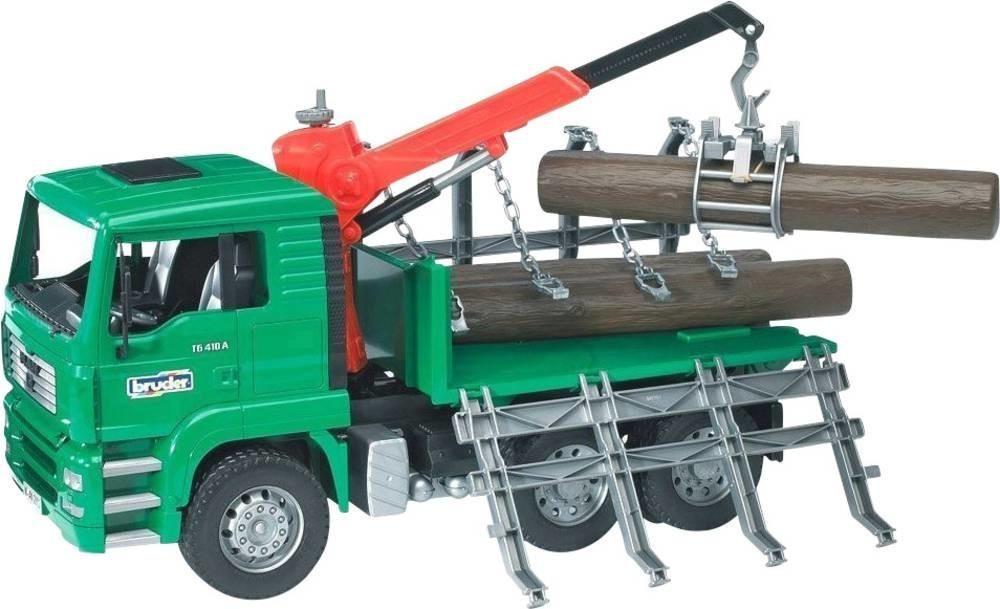 Bruder MAN Holztransport-LKW mit Ladekran (02769)