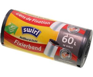 15 stk.//Rolle 9x Swirl Fixierband Müllbeutel 20L