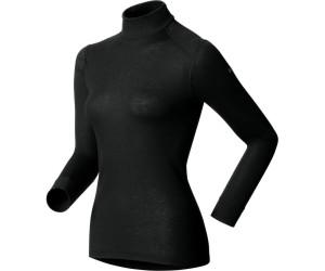 384be7306d Odlo T-shirt chaud femme Warm manches longues col montant noir au ...