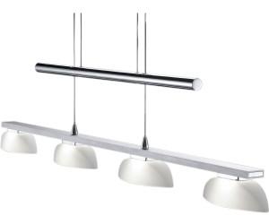 4flammige LED Pendelleuchte mit Glasschirmen weiß höhenverstellbares Jojopendel