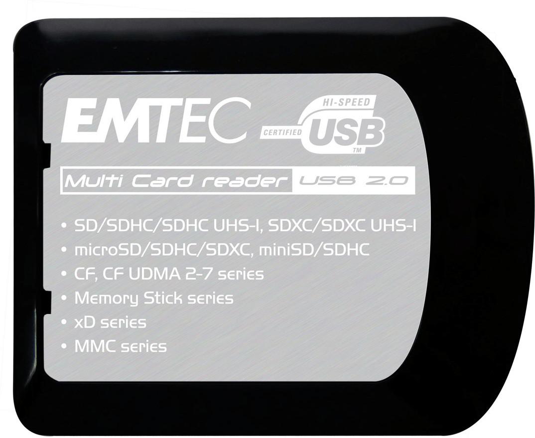 EMTEC 2730386000 EKLMFLU03 Kartenleser USB 3.0 (3.1 Gen 1) Type-A Schwarz ~D~