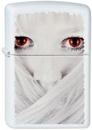 Zippo Evil Girl Feuerzeug (weiß matt)