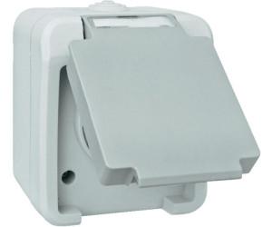 EMZ-Stickler Feuchtraum-Steckdose, grau 102435