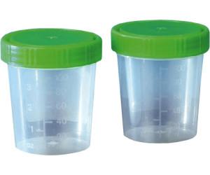 Ampri Urinprobenbecher grüner Deckel Schraubverschluss 125 ml