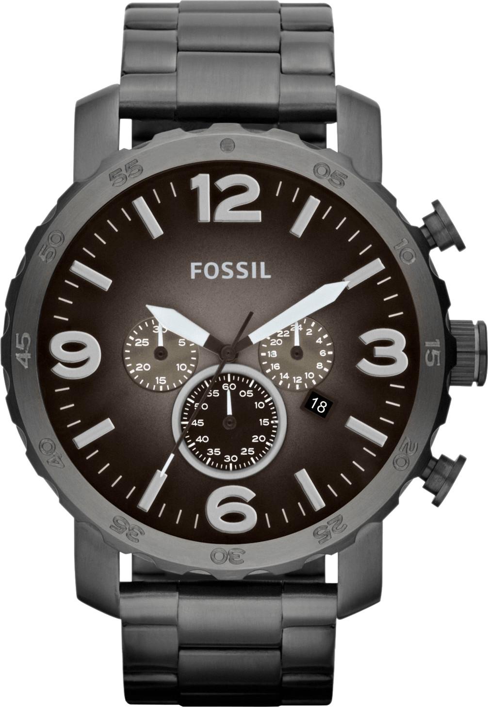 Fossil Nate Steel grey (JR1437)