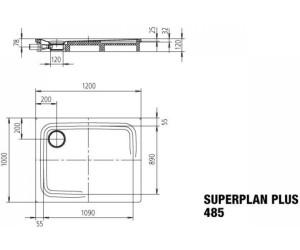 Extrem Kaldewei Superplan Plus 485-2 120 x 100 cm ab 483,68 NF12
