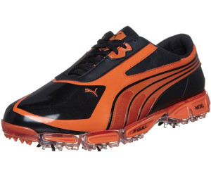 puma golfschuhe amp cell fusion sl black-vibrant orange