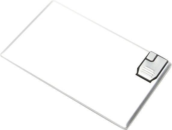 Aricona USB Stick als Karte (Metall) 8GB silber