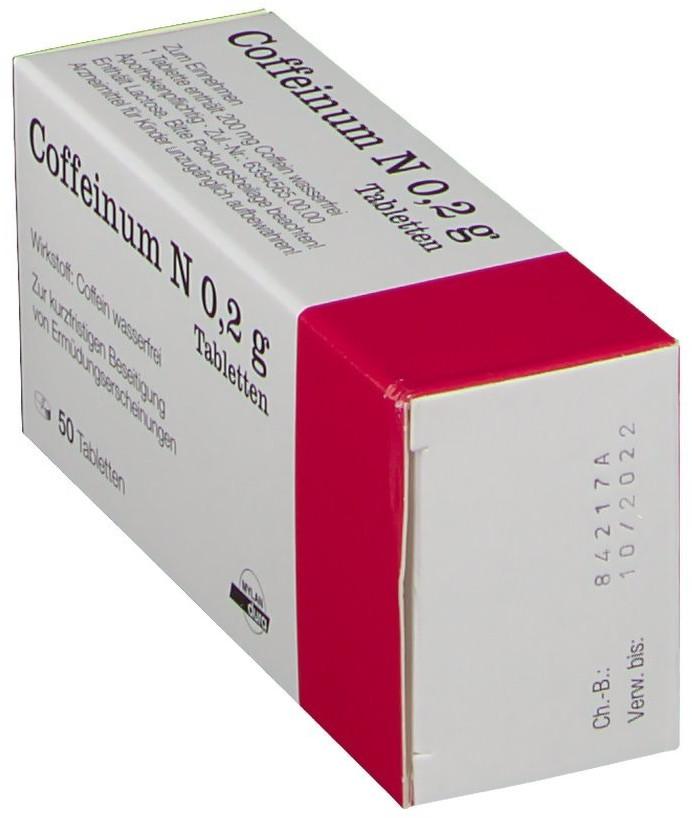 Coffeinum N 0,2 g Tabletten (50 Stk.) ab 7,70 € (August