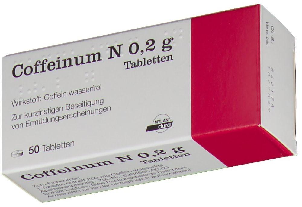 Coffeinum N 0,2 g Tabletten (50 Stk.) ab € 7,74