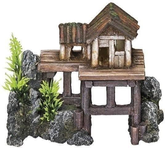 Nobby Aqua Ornaments ´´HOLZHAUS´´ mit Pflanzen