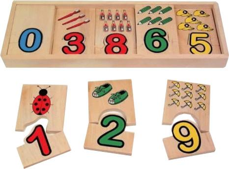 Small Foot Design Zahlen-Zuordnung