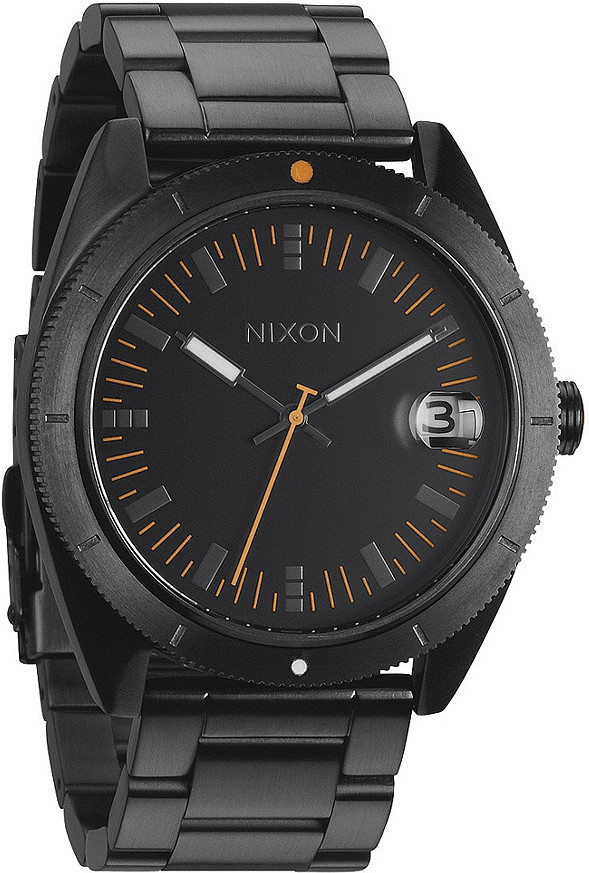 Nixon The Rover SS II All Black / Orange Herrenuhr (A359577)