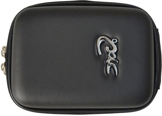 Image of Croco Medium Digi Case with Metal Logo Black