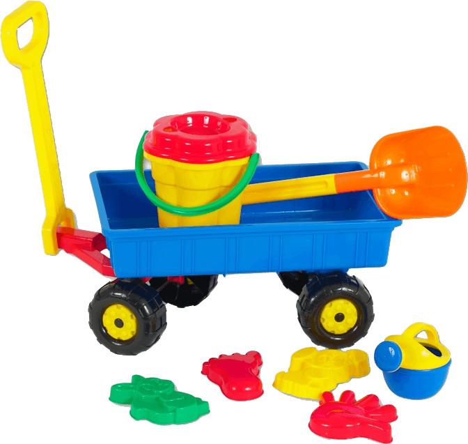 Polesie Handwagen mit Sandset
