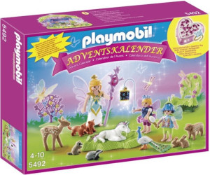 playmobil calendrier de l 39 avent f es avec licorne et animaux de la for t 5492 au meilleur prix. Black Bedroom Furniture Sets. Home Design Ideas