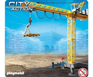 playmobil grande grue de chantier radio command e 5466. Black Bedroom Furniture Sets. Home Design Ideas