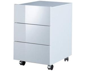Hmw Möbel Rollcontainer Cary Hochglanz Weiß Ab 11049