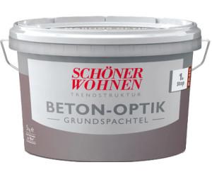 Beton Optik Schöner Wohnen schöner wohnen trendstruktur beton-optik grundspachtel 5 kg ab 25,46