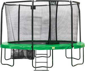 exit trampolin jumparena oval all in 1 244 x 380 cm mit sicherheitsnetz ab 539 99. Black Bedroom Furniture Sets. Home Design Ideas
