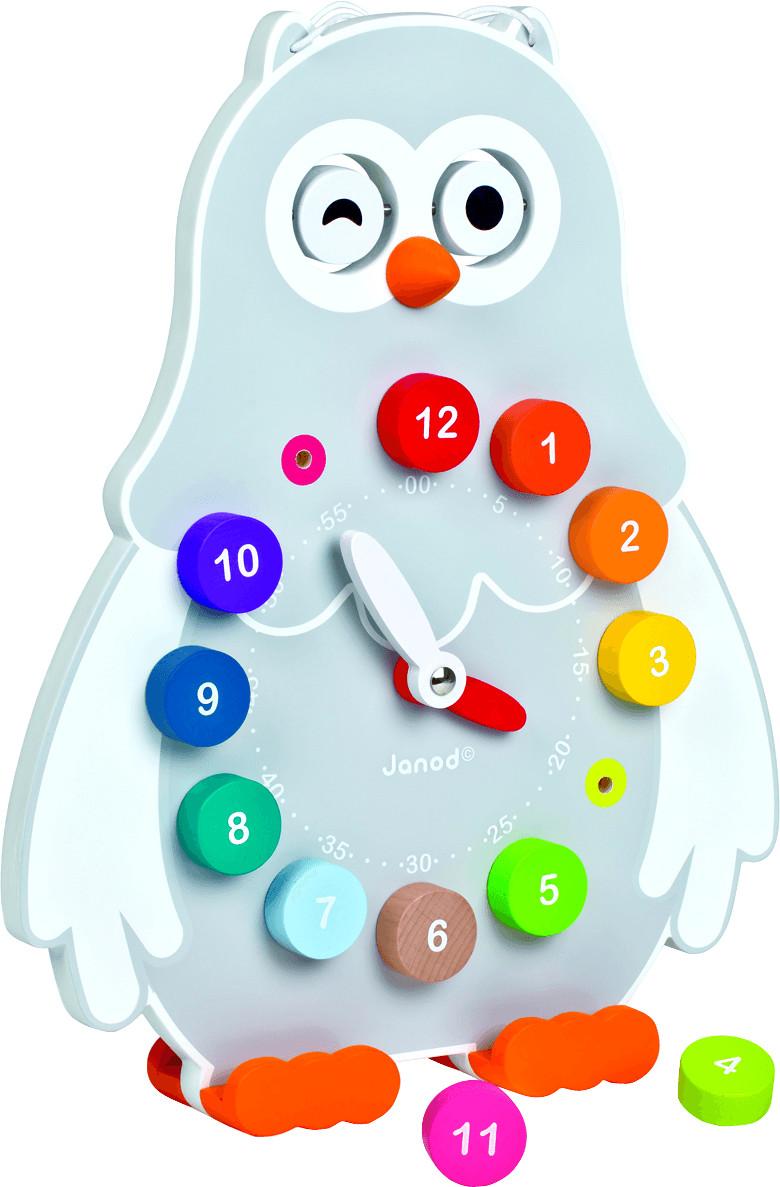 Janod Owly Clock