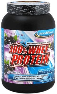 IronMaxx 100% Whey Protein Cassis-Joghurt 900g