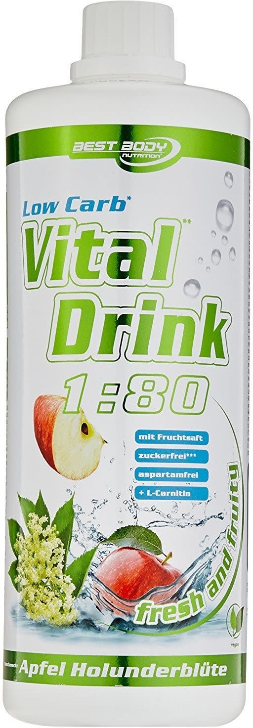 Best Body Nutrition Low Carb Vital Drink Apfel 1000ml