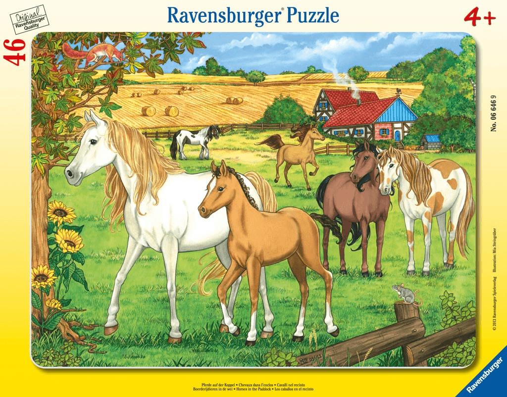 Ravensburger Pferde auf der Koppel (46 Teile)