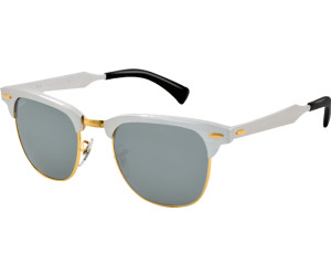 Ray Ban Ray-Ban Sonnenbrille »clubmaster Aluminum Rb3507«, Weiß, 137/40 - Weiß/silber