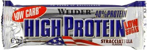 Weider 40% High Protein Bar Stracciatella 24x50g