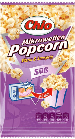 Chio Mikrowellen Popcorn süß (100 g)