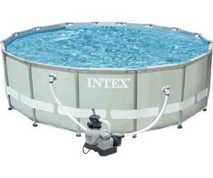 Intex ultra frame pool 488 x 122 cm mit sandfilter 28324 for Garten pool intex