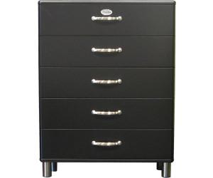 tenzo malibu kommode 5 schubladen schwarz 5295 033 ab 216 75 preisvergleich bei. Black Bedroom Furniture Sets. Home Design Ideas