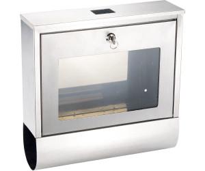 lunartec edelstahl briefkasten solar leucht hausnr zeitungsfach ab 47 90 preisvergleich. Black Bedroom Furniture Sets. Home Design Ideas