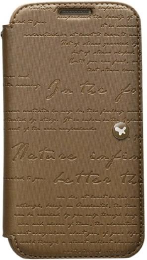 Zenus Lettering Diary braun (Samsung Galaxy S4)