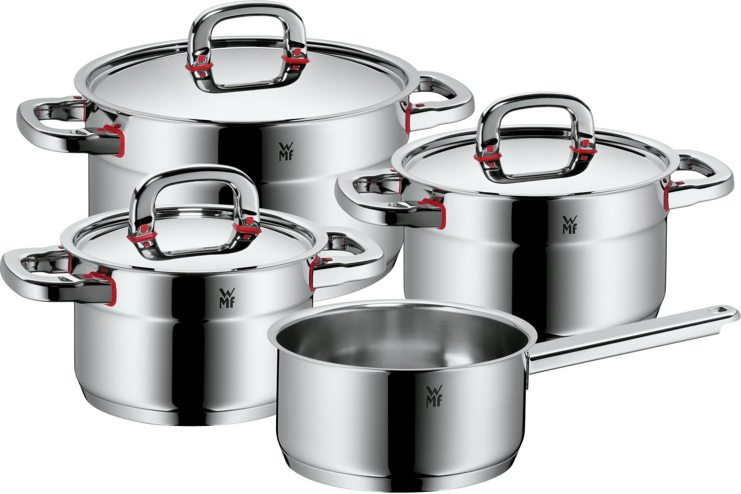 WMF Premium One Topfset mit Stielkasserolle 4-tlg.