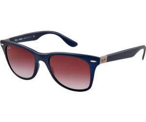 Ray Ban Ray-Ban Herren Sonnenbrille »wayfarer Liteforce Rb4195«, Blau, 60158g - Blau/grau