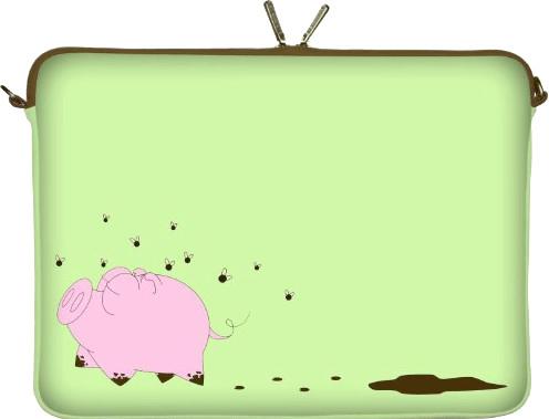 Image of Digittrade Notebook Sleeve 15,4 happy piggy (DG-LS158-15)