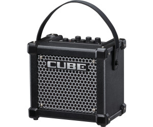 Roland Micro Cube GX Gitarrenverstärker Weiss Kabel