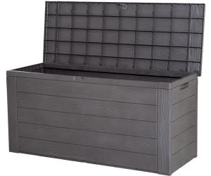 Gartenbox Kissenbox Woddy Kunststoff 120x46x58cm Holzoptik