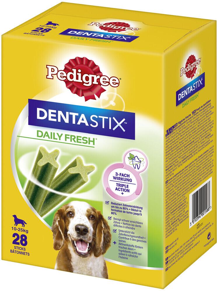 Pedigree DentaStix Fresh für mittelgroße Hunde ...
