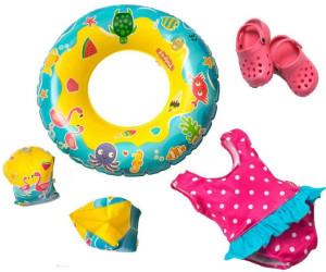 Clogs Gr Badeanzug Schwimmring und -flügel Heless 88 Schwimmset für Puppen