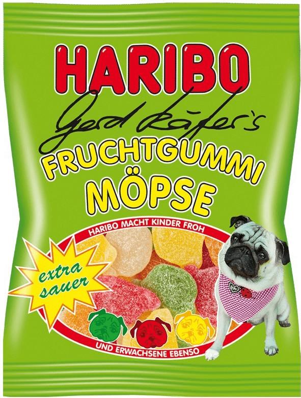 Haribo Gerd Käfer´s Fruchtgummi Möpse extra sau...