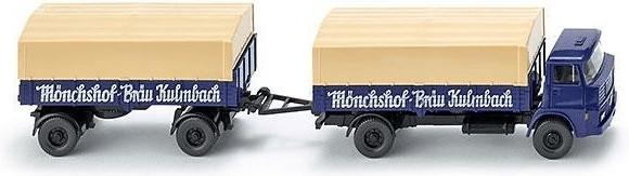 Wiking Henschel Pritschenhängerzug ´´Mönchshof ...