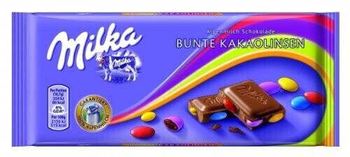 Milka Bunte Kakaolinsen (100 g)