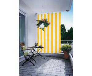 Floracord Senkrecht-Sonnensegel 140 x 230 cm gelb-weiß