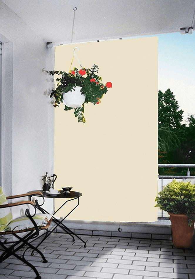 Floracord Senkrecht-Sonnensegel 140 x 230 cm elfenbein