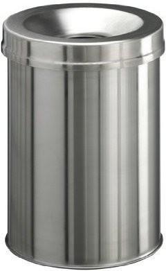 Papierkorb Edelstahl Safe rund 15l metallic silber