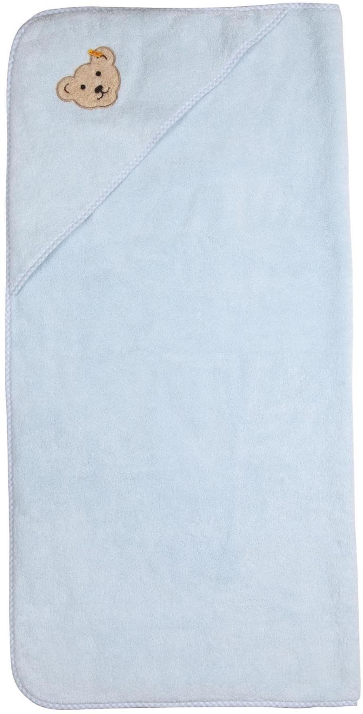Steiff Badehandtuch quadratisch hellblau
